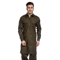 Olive Casual Pathani