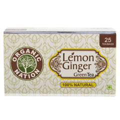 Organic Nation Lemon Ginger Envelope Tea Bags 25's
