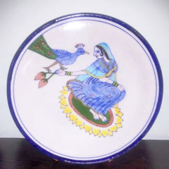 Blue Pottery Queen Plate