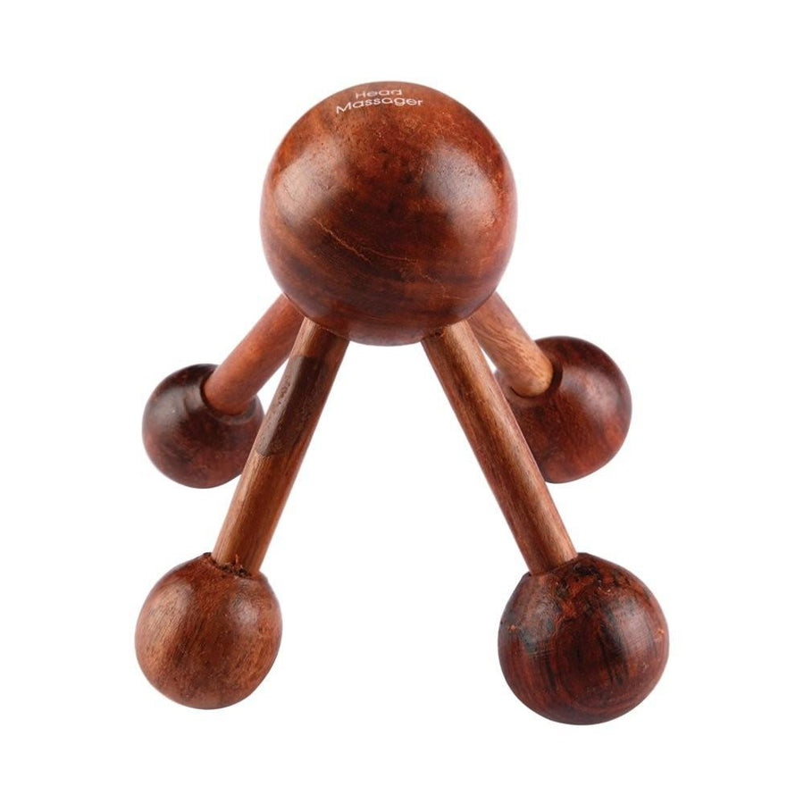 Desi Karigar Massage & Relaxation Wooden Head Massager