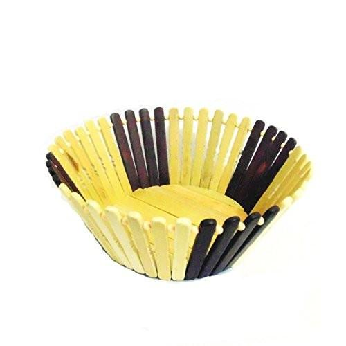 Desi Karigar Wooden Flower and Fruit Basket Buy 1 Get 1 Free