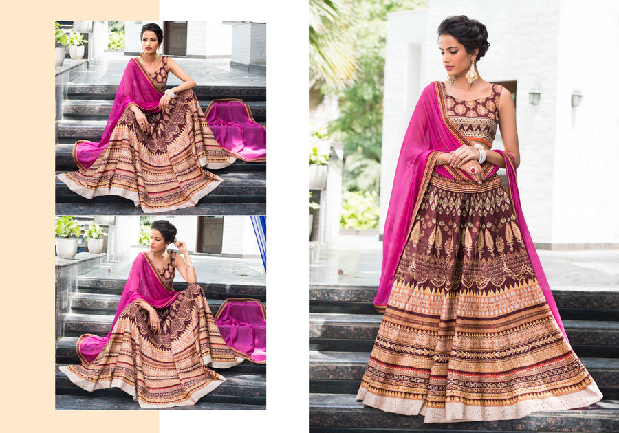 Semi Stiched LEHENGA