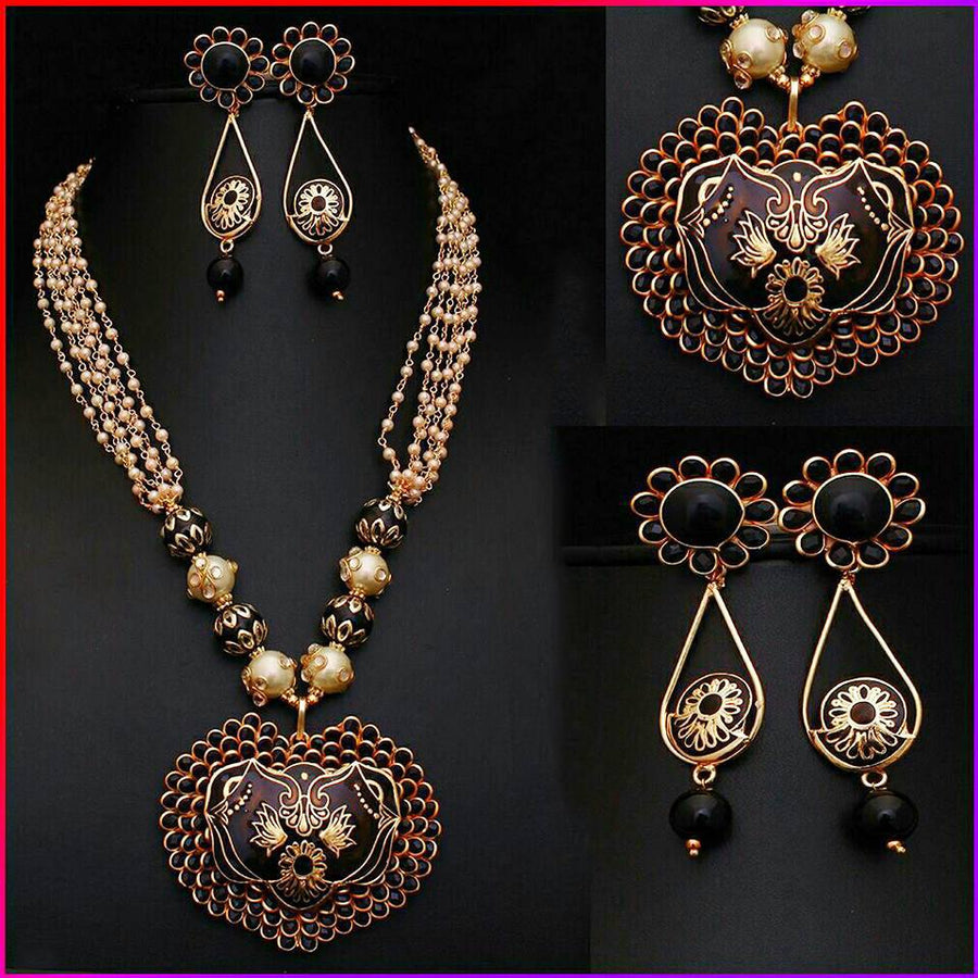 Paachi Meenakari Necklace