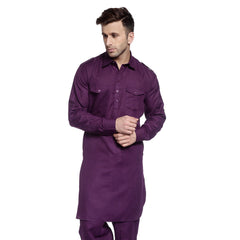 Purple Casual Pathani