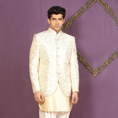 Mens Indo Western Wedding Off white Designer Partywear Traditional