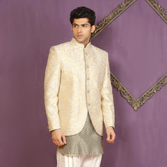 Mens Indo Western Wedding Grey Designer Partywear Traditional