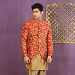 Mens Indo Western Wedding Copper Designer Partywear Traditional