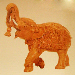 Carved Elephant Trunk Up