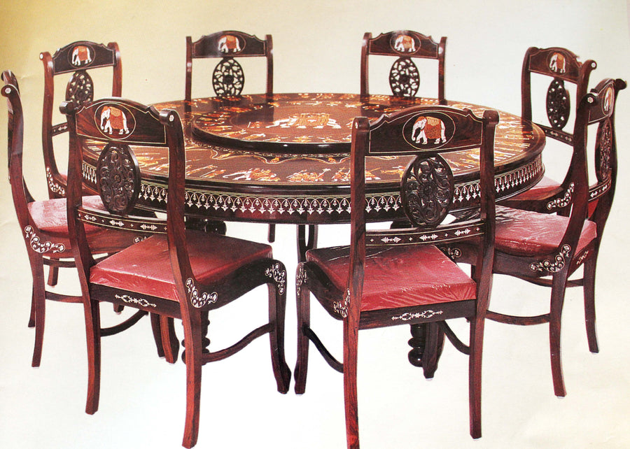 Oval Dining Table With Six chairs