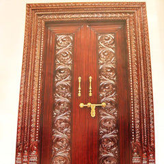 Pooja Door Carving