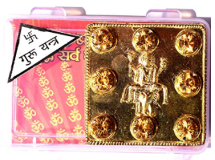 Divya Shakti Gold Plated Shri Guru / Brihaspati Yantra to Evoke Bad Effect Of Guru Grah 2X2