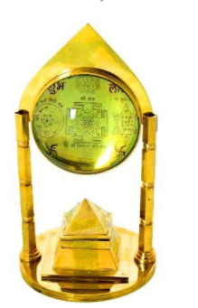 Divya Shakti Tortoise Pillar Pyramid Shree Yantra with with Swastik and Pyramid 7 INCH ( Religious Gift )