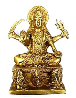 Divya Shakti MAA SANTOSHI IDOL - Handmade Brass Sculpture - Religious Figurine - 6* 4 Inches ( 3 kg ) diwali gifts 4 all ( Religious item )