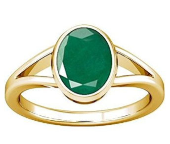 Divya Shakti 3.25 - 3.50 Ratti Emerald ( PANNA STONE PANCHADHATU RING ) 100 % ORIGINAL CERTIFIED NATURAL GEMSTONE A+ QUALITY