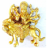 Divya Shakti Navratre Spl Brass Statue and Sculpture of Maa Durga Idol Hindu Art Puja Gifts - 650 Grams ( Religious item )