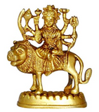 Divya Shakti Navratre Spl Brass Statue and Sculpture of Maa Durga Idol Hindu Art Puja Gifts 4.3 Inches ( Religious item )