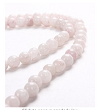 Divya Shakti Rose Quartz Crystal Mala 108 + 1 Beads 6 MM ( Healing mala )