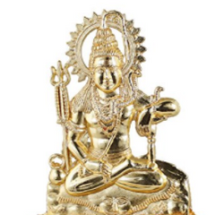 Divya Shakti Indian God Shiva Bust Figurine - Handcrafted Metal Figurine Religious Decorative Gift - 4.5 x 3 x 0.5 inches ( Religious gift item )