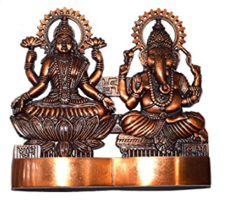 Diwali offer - Divya Shakti God Laxmi Ganesh Set Statue Idol Murti in Antique metal (4x4 inch) Diwali gift