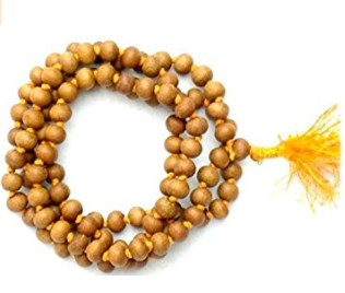 Divya Shakti Natural Sandalwood / Chandan mala Meditation Prayer Jaap Mala (108+1) 6 mm