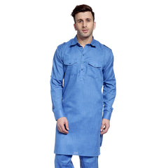 RoyalBlue Casual Pathani