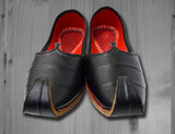 Black Leather Jutti - Men