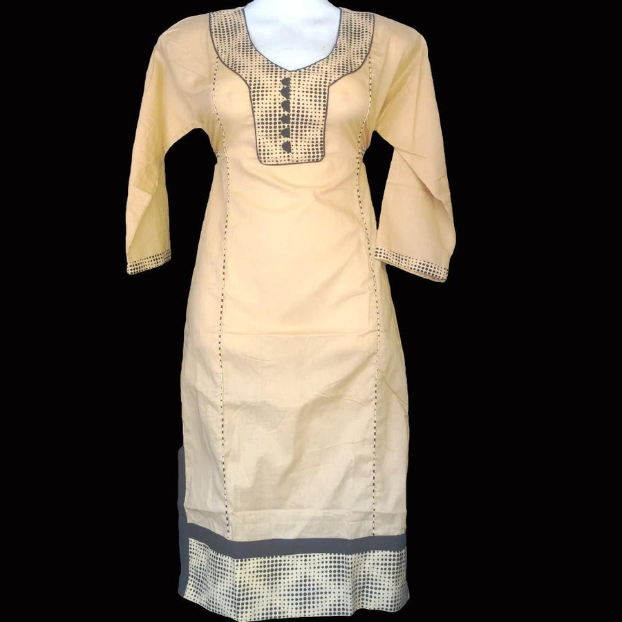 Cream Cotton Kurta