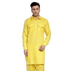 Yellow Casual Pathani