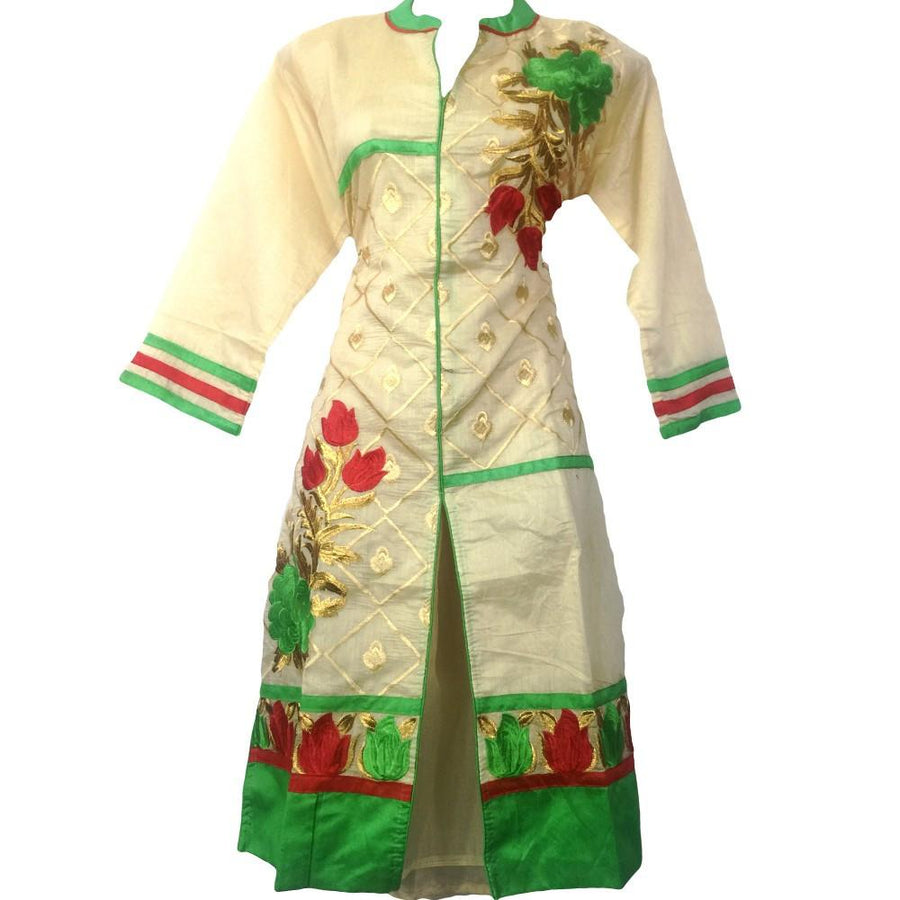 Cream Raw Silk Kurti