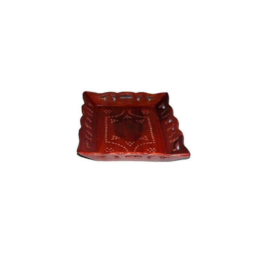 Desi Karigar Wooden Carved Serving Tray