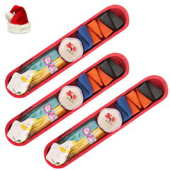 Christmas Candles- Set of Three Incense Sets in a Tray