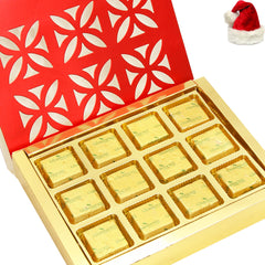 Christmas Gifts Chocolates- Red 12 pcs Chocolate Box