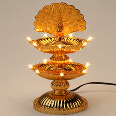 14 Lights Peacock Diya