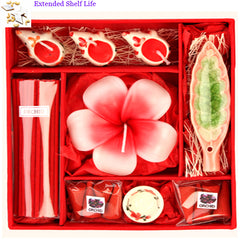 Candle Gift Set with 200 gms kaju Katli