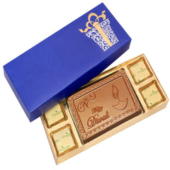 Diwali Chocolates -  Blue Happy Diwali Chocolate Box Small