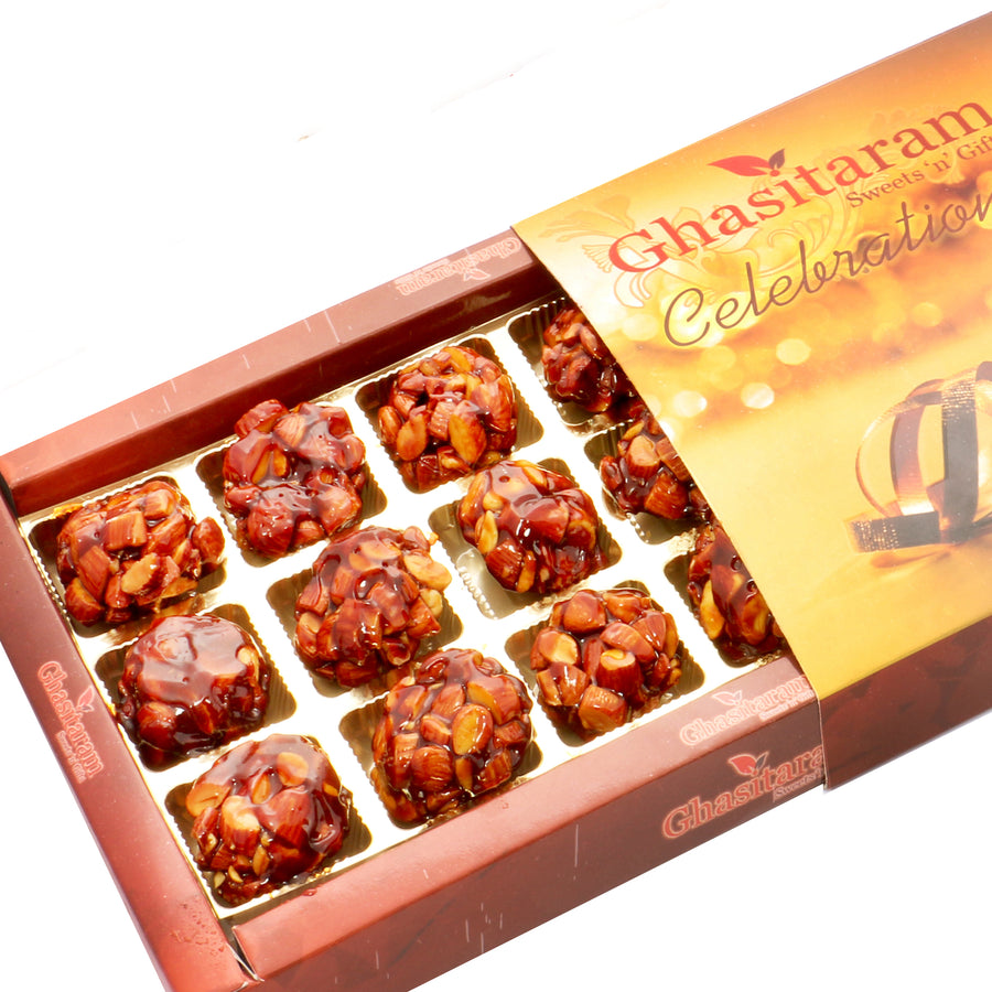Diwali Gifts sweets- Caramalised Almond Delight 18 pcs