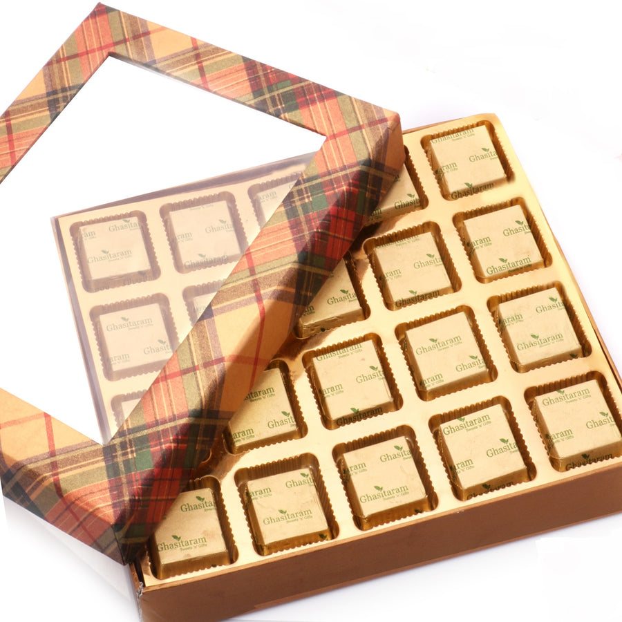 Diwali Chocolates - Golden Checks Assorted Chocolate Box