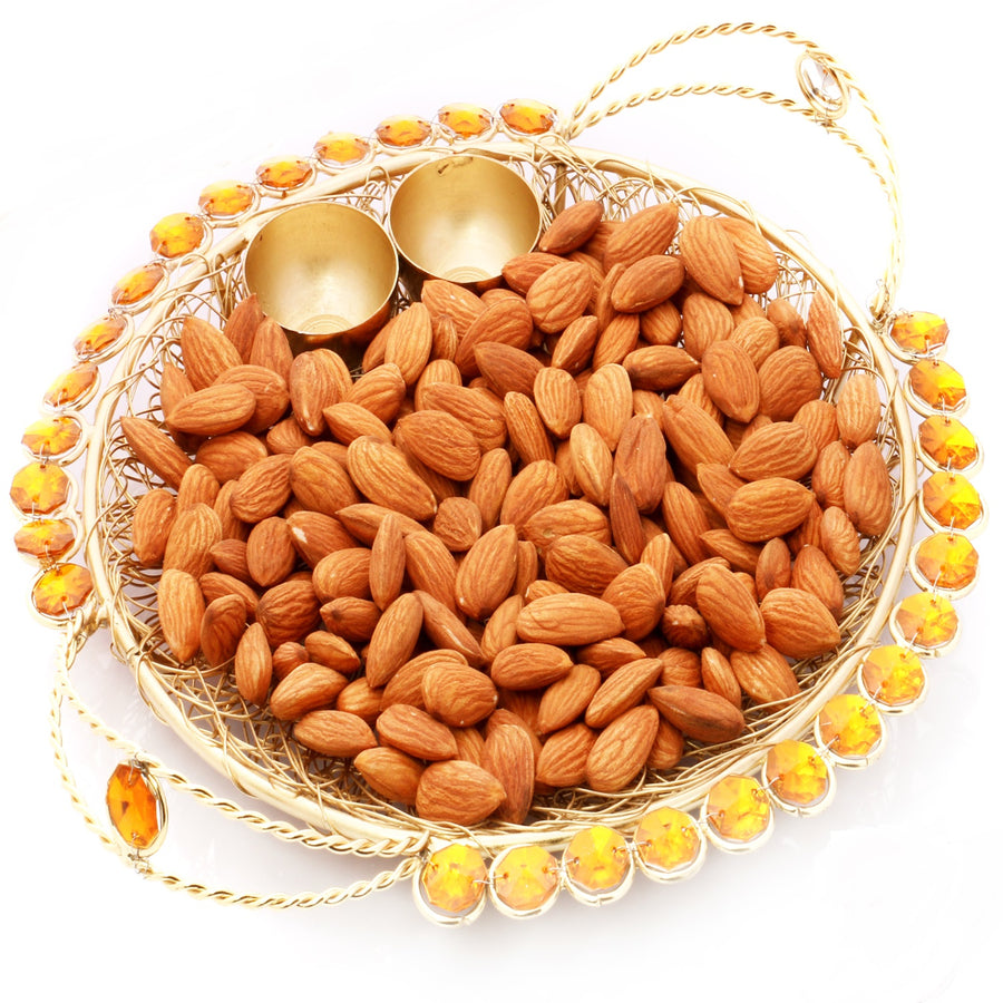 Golden Mesh Thali with Almonds