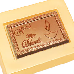 "Diwali Chocolates -  ""Happy Diwali"" Message Chocolate Bar Small"