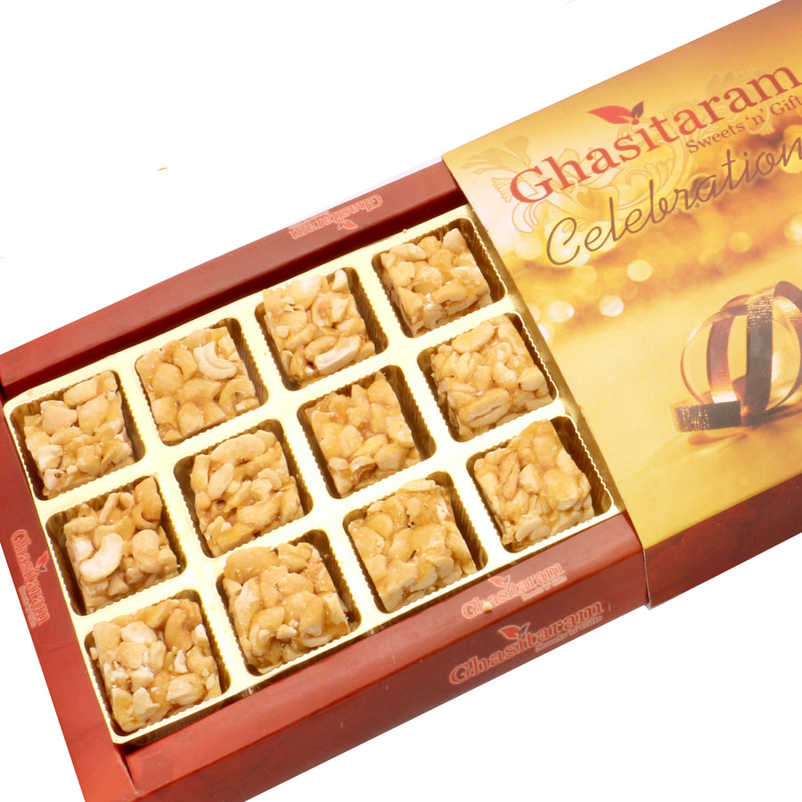 Diwali Gifts sweets- Roasted Cashew Delight 18 pcs