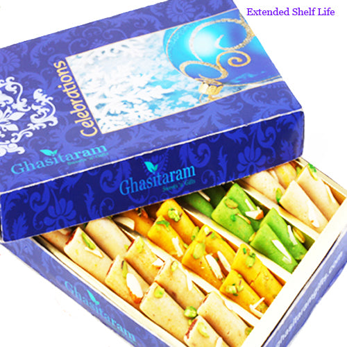 Diwali Gifts sweets-Ghasitarams Assorted Rolls Box 400 gms