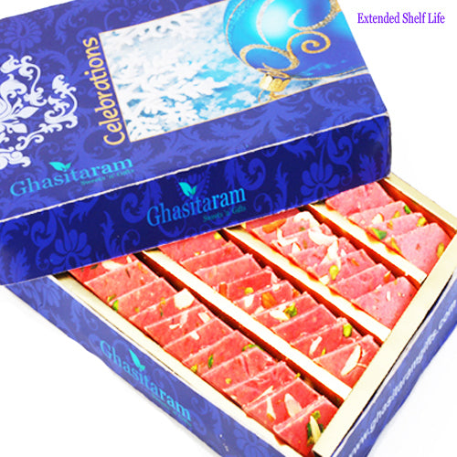 Diwali Gifts sweets-Ghasitarams Strawberry Katli 800 gms