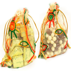 Diwali Chocolates- Chocolate and Nutties in Net Pouches
