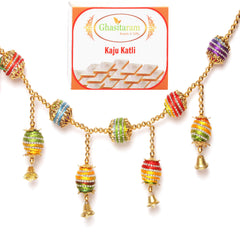 Diwali Gifts Decoration- Coloured Balls Toran with 400 gms Kaju Katli