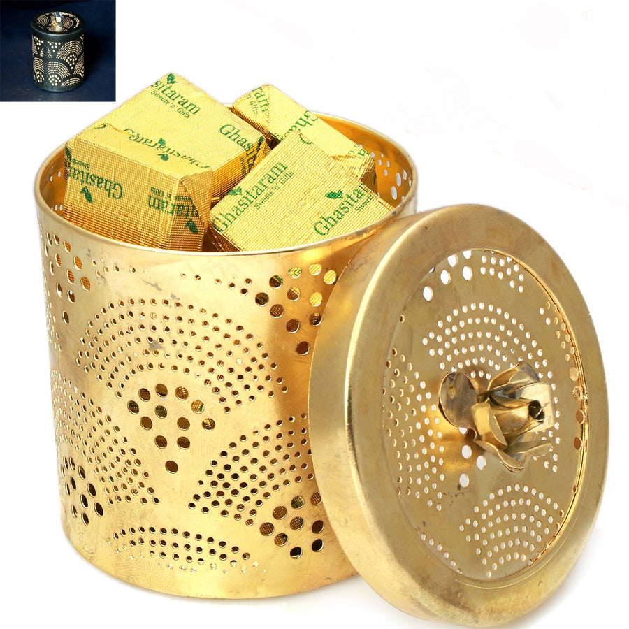 Ghasitaram Gifts Chocolates - Golden Chocolate Jar