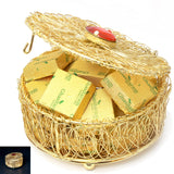 Ghasitaram Gifts Chocolates - Golden Mesh Chocolate Box
