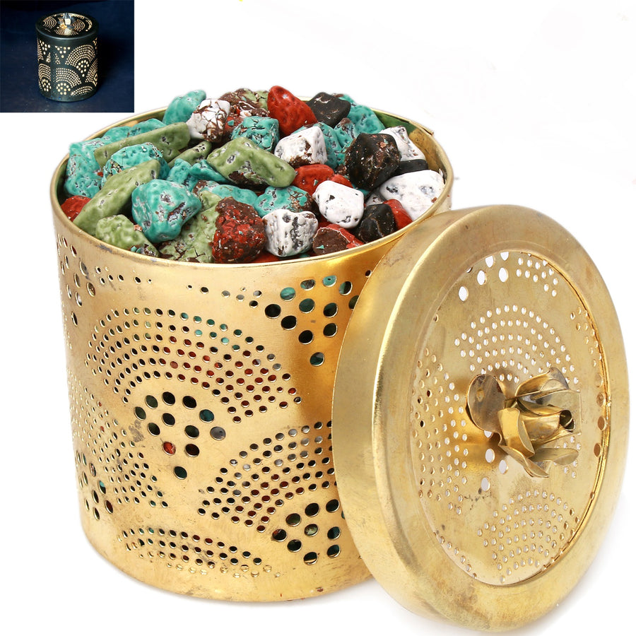Ghasitaram Gifts Chocolates - Golden Stone/ Rock Chocolate Jar