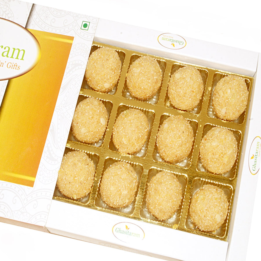 Diwali Gifts Sweets- Urad Dal Laddoo in white Box
