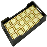 Diwali Chocolates-  Wooden Serving Tray with 18 Pc Mixed Nuts Chocolates