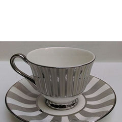 Da FaciounTableware Serving Printed Coffee -Tea Cups Saucer Set 12 Pcs